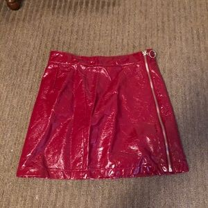 Forever 21 Red Leather Skirt